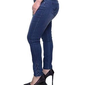 Earl Jean Lace Up Skinny Ankle Jeans/ Denim Size 8 for sale